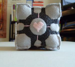 Hand-Sewn DIY Portal Companion Cube