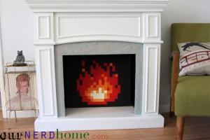 DIY 8-Bit Fireplace